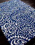 Jaipur Barcelona Indoor-Outdoor BA03 Flores Cloud Dancer & Twilight Blue Area Rug