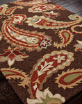 Jaipur Barcelona Indoor-Outdoor BA13 Acacia Cocoa Brown/Cocoa Brown Closeout Area Rug - Fall 2013