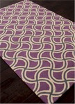 Jaipur Barcelona Indoor-Outdoor BA26 Barbells Dahlia Purple & Paloma Closeout Area Rug