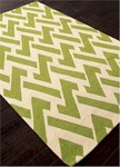 Jaipur Barcelona Indoor-Outdoor BA29 Interlocked Greenery & Turtle Dove Closeout Area Rug