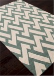 Jaipur Barcelona Indoor-Outdoor BA30 Interlocked Dairy Ivy & Turtle Dove Closeout Area Rug