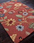 Jaipur Blue BL05 Garden Party Copper Brown & Mustard Gold Area Rug