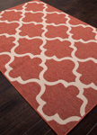 Jaipur Bloom BLO27 Stamped Jester Red & Birch Closeout Area Rug