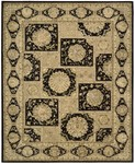 Designer Series DS23L23 Black Royalty Square Closeout Rug