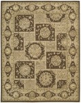 Designer Series DS23L42 Brown Royalty Square Closeout Rug
