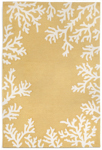 Trans-Ocean Liora Manne Capri 1620/09 Coral Border Yellow Closeout Area Rug
