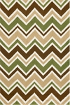 Trans-Ocean Liora Manne Capri 1618/16 See Saw Green Closeout Area Rug