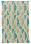 Jaipur Catalina CAT35 Valencia Tan & Teal Closeout Area Rug