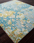 Jaipur Jenny Jones Global CG08 Ruby Room Canal Blue & Dark Citron Area Rug