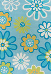 Surya Chic CHI-1002 Light Blue/Blue Closeout Area Rug - Spring 2010