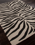 Jaipur Coastal Living Indoor-Outdoor CI02 Party Lines Ebony/White Closeout Area Rug - Spring 2014