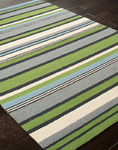 Jaipur Colours Indoor-Outdoor CO01 In a Row Lime Green Closeout Area Rug