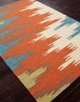 Jaipur Colours Indoor-Outdoor CO06 Flame Stitched Rust/Rust Closeout Area Rug