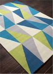 Jaipur Colours Indoor-Outdoor CO14 Right Angle Frost Gray & Abbey Stone Closeout Area Rug