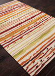 Jaipur Colours Indoor-Outdoor CO18 Sketchy Lines Red/White Area Rug