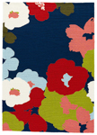 Jaipur Colours Indoor Outdoor CO26 Wallflower Medieval Blue & Ribbon Red Closeout Area Rug