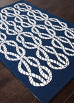 Jaipur Coastal Lagoon COL23 Roped In Estate Blue & Pristine Area Rug