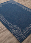 Jaipur Coastal Lagoon COL49 Killians Mallard Blue & Flint Gray Area Rug