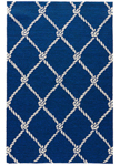 Jaipur Coastal Lagoon COL52 Fish Net Estate Blue & Cloud Cream Closeout Area Rug