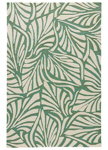 Jaipur Coastal Lagoon COL62 Palm Breezy Bottle Green & Cloud Cream Closeout Area Rug