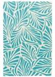 Jaipur Coastal Lagoon COL63 Palm Breezy Teal & Cloud Cream Closeout Area Rug