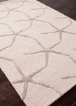 Jaipur Coastal Resort COR25 Starfishing Oyster Grey & Lily White Area Rug