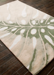 Jaipur Coastal Resort COR26 Monstera Beetle & Jadeite Closeout Area Rug