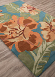 Jaipur Coastal Seaside COS36 Spencer Storm Blue & Apricot Buff Area Rug
