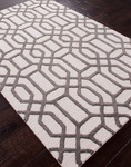 Jaipur City CT07 Bellevue Light Gray & Charcoal Gray Closeout Area Rug