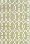 Feizy Cetara 4105F Green/White Closeout Area Rug