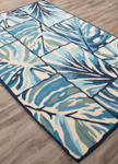 Jaipur Design Campus Indoor Outdoor DCI02 Ten Palms Vanilla Custard & Blue Steel Closeout Area Rug