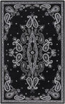 Surya Bob Mackie Deco DEC-1000 Black/Charcoal Closeout Area Rug - Fall 2009