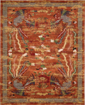 Barclay Butera Lifestyle Dynasty DYN03 PER Imperial Persimmon Area Rug