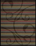 Nourison Elements ELE01 ESP Espresso Closeout Area Rug