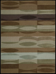 Nourison Elements ELE03 BRN Brown Closeout Area Rug