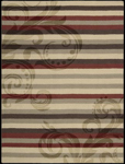 Nourison Elements ELE05 REDBN Red/Brown Closeout Area Rug