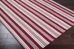 Surya Country Living Farmhouse Stripes FAR-7002 Red/Ivory Closeout Area Rug - Spring 2013