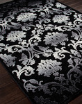 Jaipur Fables FB25 Glamourous Chenille Black Closeout Area Rug