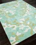 Jaipur Fusion FN06 Coral Fixation Birds Egg Green & Shadow Green Area Rug