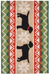 Trans-Ocean Liora Manne Frontporch 1565/12 Nordic Dogs Neutral Closeout Area Rug