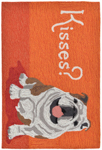 Trans-Ocean Liora Manne Frontporch 1567/17 Wet Kiss Orange Area Rug