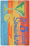 Trans-Ocean Liora Manne Frontporch 1577/27 It's 5 O'Clock Sunset Closeout Area Rug