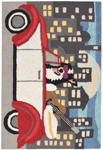 Trans-Ocean Liora Manne Frontporch 1592/47 City Dog Night Area Rug
