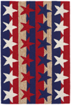 Trans-Ocean Liora Manne Frontporch 1804/14 Stars & Stripes Americana Area Rug