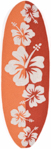 Trans-Ocean Liora Manne Frontporch 1597/17 Floralboard Orange Closeout Area Rug