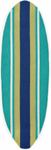 Trans-Ocean Liora Manne Frontporch 1598/04 Stripeboard Teal Closeout Area Rug
