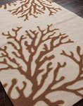 Jaipur Grant Design Indoor-Outdoor GD02 Bough Out Oyster Gray & Cocoa Brown Closeout Area Rug