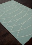 Jaipur Grant Design Indoor-Outdoor GD24 Canoe Dusty Turquoise & Pristine Closeout Area Rug