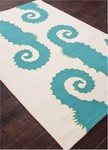 Jaipur Grant Design Indoor-Outdoor GD33 Whisper White & Lake Blue Closeout Area Rug