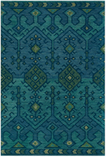 Designer Series 17024 Gem Hand-Tufted Teal Rug